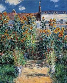 The Garden at Vetheuil - Claude Monet