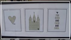 Temple Marriage Decor - I want to make this with the Nauvoo Temple!