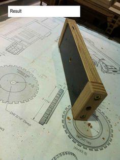 Wooden toys wheel making #2: Jig