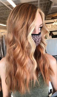 Ginger Blonde Hair, Ginger Hair Color, Brown Hair With Blonde Highlights, Blonde Hair Looks, Hair Color Streaks, Hair Dye Colors, Ombré Hair, Dye My Hair, Light Copper Hair