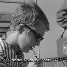 """Breathless"". directed by Jean-Luc Godard, 1960"