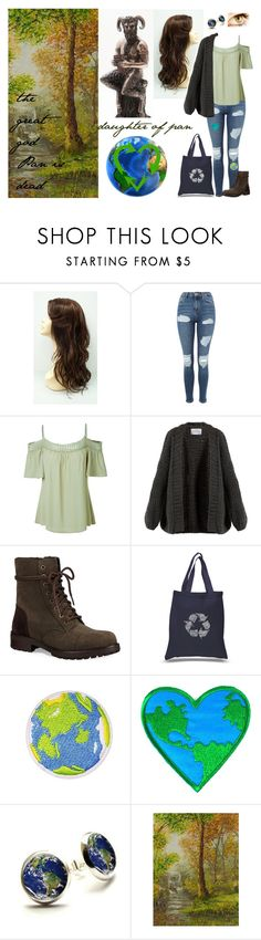 """""""daughter of Pan"""" by tani-gabriel on Polyvore featuring Mode, Topshop, LE3NO, I Love Mr. Mittens, UGG, Los Angeles Pop Art und NOVICA"""