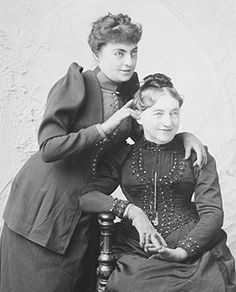 Georgiana Drew Barrymore and her mother Mrs Louisa Lane Drew in humorous moment 1860a.jpg (270×335)