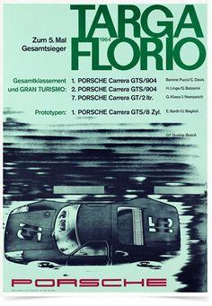 Poster Carros Porsche Targa Florio 1964 - Decor10
