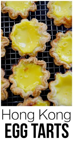 Hong Kong Egg Tarts - a classic dim sum dessert! An easy and delicious taste of Asia.