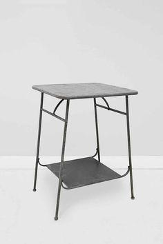 Factory Side Table in Zinc