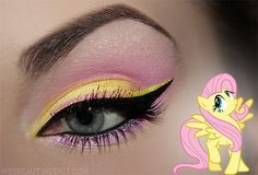 My little pony inspired makeup #iheartraves
