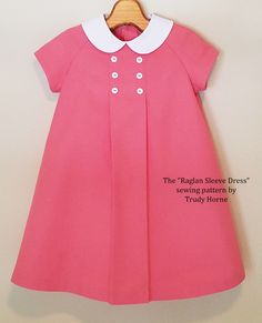 """The """"Raglan Sleeve Dress"""" sewing pattern by Trudy Horne."""