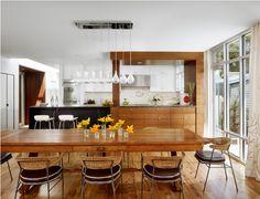 A Peek Inside: Cool Grays & Warm Woods - Small Home Love
