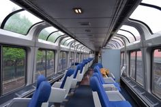 Amtrak Etiquette and Advice for Coach Passengers** Amtrak Observation Car on the Empire Builder.