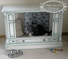 Upcycled Antique TV to Pet Bed!!! - Imgur