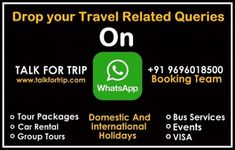 Talk For Trip Gives you Customized packages, Where you can make changes according to your plan, Just talk to us, We will take care!  Visit Website: www.talkfortrip.com Talk and Text: + 91 9696018500 Your travel Solution is just one text away! Competitor Analysis, Visit Website, Group Tours, Car Rental, Awesome, Amazing, Traveling By Yourself, Packaging, How To Plan