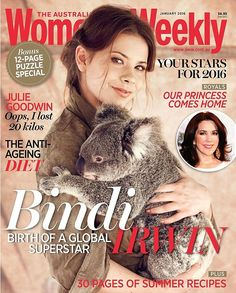 Coming of age: Bindi Irwin graces the cover of the January issue of the Australian Women's Weekly and opens up about her family and her boyfriend alongside a high fashion shoot