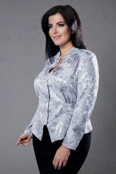 Perla - silver peplum blouse with long sleeves.   http://www.dealondon.co.uk/Perla+silver+peplum+blouse