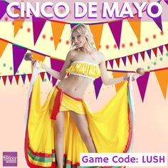 """Felices fiestas! Happy Cinco de Mayo Trivia Lovers! Trivia: """"Latinos have a substantial average of 7-inches long phalluses.""""  Check out the FREE Game Code in the photo to EARN 5 MORE PLAYS in the Taboo Trivia Game and get more CHANCES to WIN a FREE $200 Gift Card in the Grand Draw. #tabootrivia  Play Taboo Trivia NOW! http://tabooga.me/pintowin  Rules Apply. http://tabooga.me/rules"""