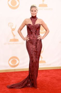 heidi klum versace Kerry Washington in Marchesa, Claire Danes in Armani + More EMMY Award Style