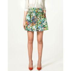 Floral Mini Skirt (28 AUD) ❤ liked on Polyvore featuring skirts, mini skirts, faldas, women, cotton skirt, floral mini skirt, floral print skirt, short skirts and short mini skirts