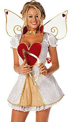 So cute #SexyCupidCostume for Valentine parties: Sexy Cupid 4 Piece Costume
