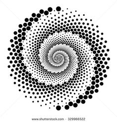 Design Spiral Dots Backdrop Abstract Monochrome Stock Vector ...