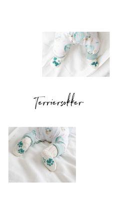 Strikkeoppskrift på babysokker 🐾 Hundesokker til baby Knits, Ravelry, Terrier, Socks, Knitting, Pattern, Animals, Dog, Threading