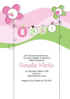 download and print the pink shower invitation template printable kit items in pink baby invitations