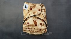 Wandering Feet Marauder's Map One Size All In Two (AI2) Cloth Diaper - Ready To Ship - pinned by pin4etsy.com