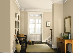 This is the project I created on Behr.com. I used these colors: RAFFIA CREAM(710C-2),RIVIERA SAND(320E-3),