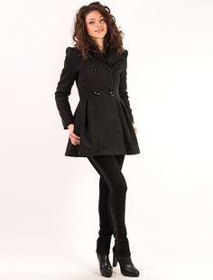 "Palton ""Really Brave"" Black Brave, Goth, Jackets, Style, Fashion, Gothic, Down Jackets, Swag, Moda"