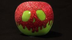 Green and Red Sparkly Snow White Apple by LovelandandSea on Etsy, $20.00