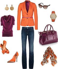"""Fuchsia and Orange"" by erika-smith ❤ liked on Polyvore"