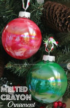 Melted Crayon Ornament …