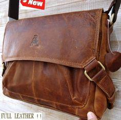 Leather Shoulder Satchel Bag Messenger Ipad Man « Clothing Impulse 98e7581e6f8d9