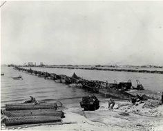 Omaha platforms from US Navy ships to the beaches, 6 June 1944