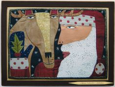 Original art by self taught New Orleans fabric artist Chris Roberts-Antieau John Larriva, Chris Roberts, Animal Quilts, Oh Deer, Outsider Art, Textile Art, Collage Art, Fiber Art, Christmas Holidays