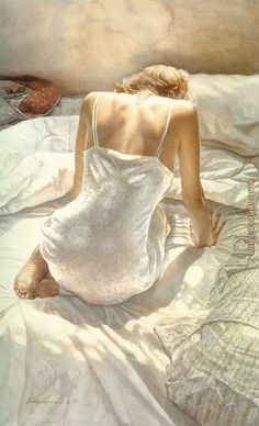 Remembering Steve Hanks (1949 - 2015), a great modern master artist of figurative watercolor.