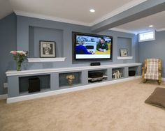 Beautiful Gray Basement Ideas