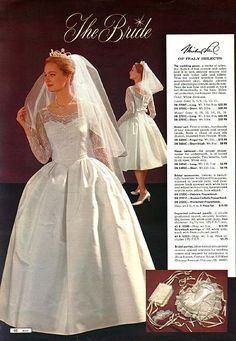 Ward's Wedding Gown, 1962 | Mid Mod Mail Order Fashion | Pinterest ...
