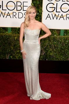 Actress Reese Witherspoon in Calvin Klein attends the 72nd Annual Golden Globe Awards at The Beverly Hilton Hotel. via StyleListCanada