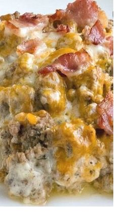 Unbelievable Bacon Cheeseburger Cauliflower Casserole: www. The post Bacon Cheeseburger Cauliflower Casserole appeared first on Recipes . Healthy Diet Recipes, Healthy Meal Prep, Beef Recipes, Low Carb Recipes, Cooking Recipes, Keto Snacks, Keto Meal, Cooking Tips, Sausage Recipes
