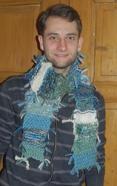 Fun and Funky Boho Fringe Scarf - Sky Blue, Sea Green and White - http://www.funhunter.com/fun-and-funky-boho-fringe-scarf-sky-blue-sea-green-and-white.html