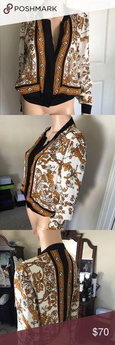 Joie Jacket Versace Style Design Silk Jacket Joie Jackets & Coats