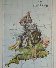 1888, el líder conservador Lord Salisbury (Robert Gascone-Cecil) adopta el papel de San Jorge y arremete contra el dragón William Ewart Gladstone, primer ministro liberal.