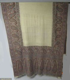 """Indian Paisley Shawl, 1800-1820"" (Augusta Auctions, November 14, 2012 NEW YORK CITY, Lot 225)"