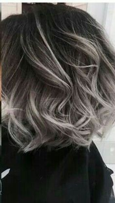 Hair gray color ombre grey 51 Ideas Hair gray color ombre grey 51 Ideas - Station Of Colored Hairs Hair Color Dark, Ombre Hair Color, Dark Hair, Gray Color, Gray Ombre, Grey Hair Dark Roots, Grey Hair Bob, Grey Hair Colors, Grey Dyed Hair