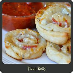 Pizza Rolls—Perfect party app. So quick, cheap, and easy. Use any combination of pizza toppings you can think of!