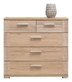 NC4 NICOL BOGFRAN chest of drawers. High capacity and functional cabinet with 5 drawers Modern design. Colour: sanremo oak. The whole structure is strong and relatively simple. Made of high quality laminate, MDF. Polish Bogfran Modern Furniture Store in London, United Kingdom #furniture #polish #bogfran #chestofdrawers