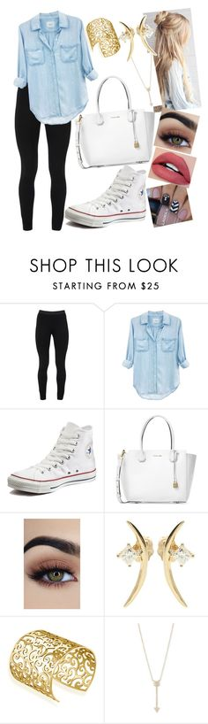 """""""Untitled #1052"""" by clariinhafloor on Polyvore featuring Peace of Cloth, Rails, Converse, Michael Kors, Wasson Fine, Mondevio and EF Collection"""