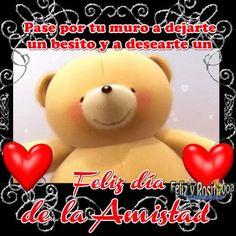 Feliz día de la Amistad Teddy Bear, Animals, Free Downloads, Happy Friends Day, One Day, Animaux, Animal, Animales, Teddybear