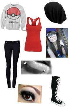 """okayyy"" by lashayme ❤ liked on Polyvore >>> I like everything but I can't stand those tall converse.."