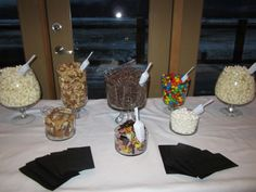 Simple popcorn, snack, candy buffet :  wedding candy buffet diy reception Jan 583